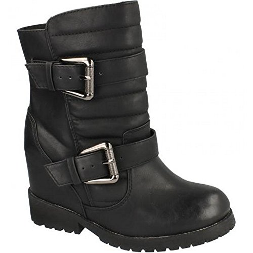 Ladies Biker Black Spot Boots Style On E47EwHr