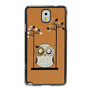 Swinging Owl Pattern Aluminum&Plastic Hard Back Case Cover for Samsung Galaxy Note3 N9000