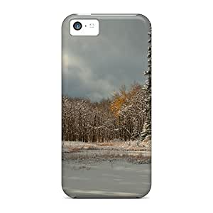 case-factory Premium Protective Hard Case For Iphone 5c- Nice Design - Lovely Winter Forest Scene