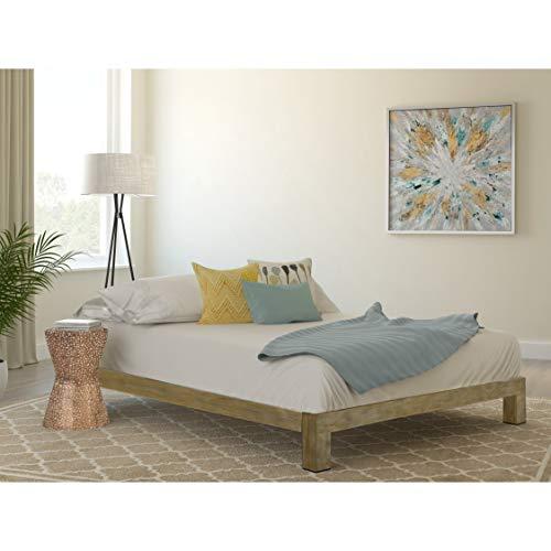 (Vesta Gold Metal Slatted Platform Bed Twin)