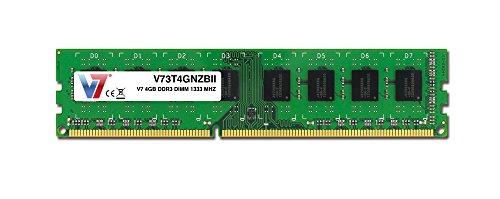 (V7 4GB DDR3 DIMM Computer Internal Memory, 1333 MHZ, CL9, UNBUFF Non-ECC, 240 PIN, PC3-10600 (V73T4GNZBII))