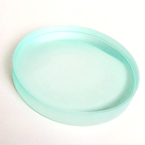 Glass Dia Top (Double Concave Lens Even Edges and Thickness - Ideal for Spinning Top - 75 mm Dia 20 cm FL)