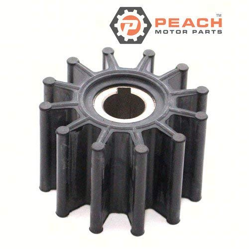 Crusader Impeller (Peach Motor Parts PM-09-702B-1 Impeller, Water Pump (Neoprene); Replaces Jabsco: 18948-0001, 18948-0001-P, Johnson Pump: 09-702B-1, Volvo Penta: 835874, 835874-9, Chrysler Crusader: R061017 Made b)