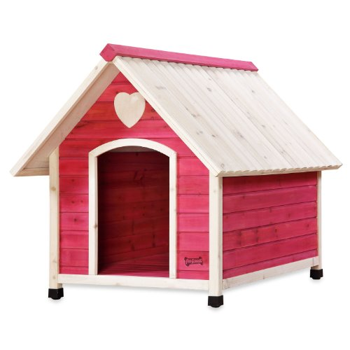 Pet Squeak Princess Pad Dog House, Large, Pink