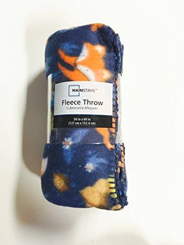 Mainstays Foxes Acorns Fleece Blanket product image