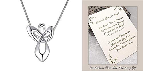 Send You an Angel Necklace Memorial Gift to Send for Sympathy to a Funeral Grieving Loss of A Loved One