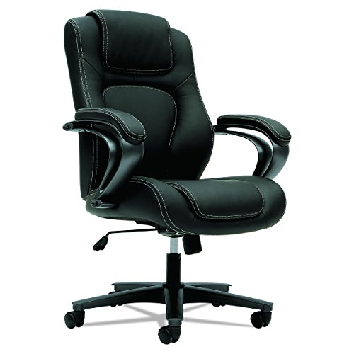 HON HVL402.EN11 Managerial Office Chair- High-Back Computer Desk Chair with Loop Arms, Black (VL402) ()