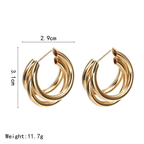 Fashion Jewelry Metal Vintage Drop Earrings Statement Clear Crystal Dangle for Women Pendant Geometric Party Gifts ()