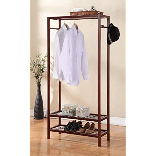 Legacy Decor 2 Tier Shelves Shoe Garment Coat Rack Hanger 65