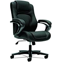 HON HVL402.EN11 Managerial Office Chair- High-Back Computer Desk Chair with Loop Arms, Black (VL402)