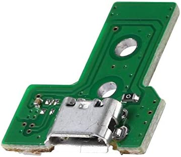 Verde Libertroy Placa de Puerto de Carga USB de 14 Pines JDS-030 para el Controlador Sony PS4 Dualshock