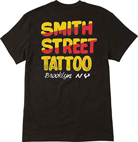 RVCA Men's Smith Street Nurse Sign 1 T-Shirt Black Medium