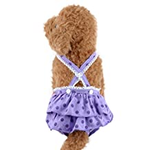 Female Pet Dog Suspender Braces Sanitary Skirt-Washable and Reusable Pet Underwear Diapers (XL, Purple)