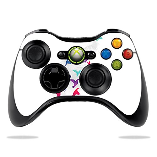 MightySkins Skin Compatible with Microsoft Xbox 360 Controller - Paper Birds | Protective, Durable, and Unique Vinyl Decal wrap Cover | Easy to Apply, Remove, and Change Styles | Made in The USA
