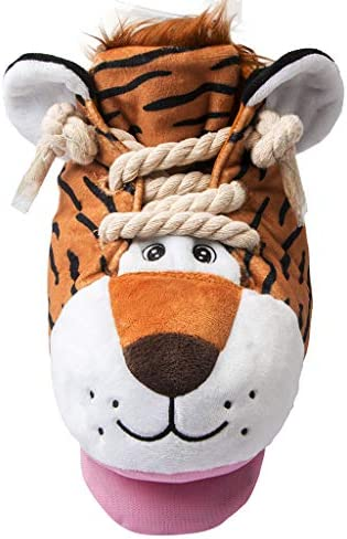 IFOYO Dog Chew Toy, Durable Squeaky Puzzle Toy Plush Cute Dog Toy for Small to Large Dogs Chewing and Interaction, Machine Washable(Tiger)