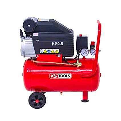 KS Tools – Compresor de aire – compresor de aire 25 litros – 8 Bars –