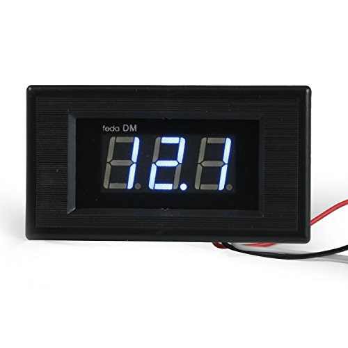 Digital Voltmeter Fence : Geree blue led digital voltmeter dc v volt panel