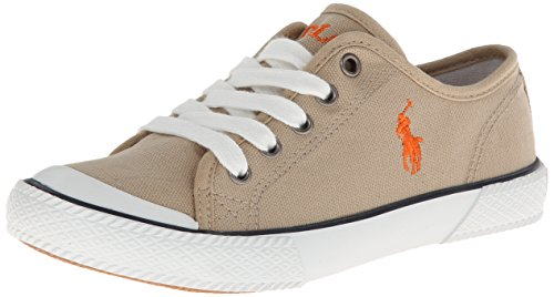 New Ralph Lauren Khaki (Polo Ralph Lauren Kids Chaz Lace-Up Sneaker (Toddler/Little Kid/Big Kid),Khaki,4 M US Big Kid)