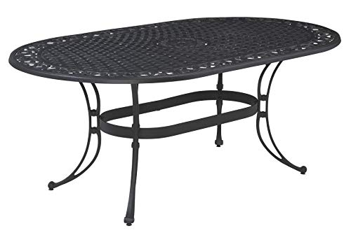 Biscayne Black Oval Outdoor Dining Table by Home Styles