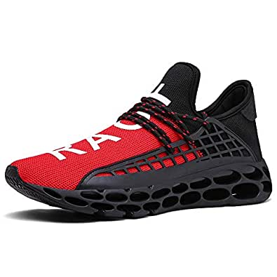 Ahico Mens Fashion Sneakers Casual Breathable Mesh Walking Shoes Lightweight Tennis Athletic Sport Running Shoe for Men Size: 6 M US Women / 5.5 M US Men