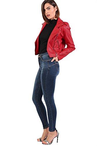A Blu Alta Pilot Jeans Attillati Vita qnSYFZ
