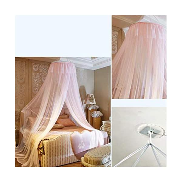 Bulawlly Hanging Letto a baldacchino, Hideaway Tenda Tettoie per Bambini Camere, Letti o culle, Nursery Sheer… 2 spesavip