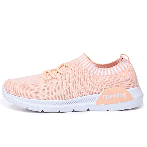 5 Shoes Women's Walking Breathable Fashion Sneakers Athletic Tennis Orange Lightweight JARLIF Running 10 US5 xBwFqP1F