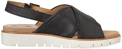 Sandalias De Zapatos De Mujer Geox Verano - Darline D621yc 000hm Negro - Wax.suede N. 37