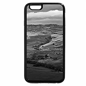 iPhone 6S Plus Case, iPhone 6 Plus Case (Black & White) - farms in a fertile valley