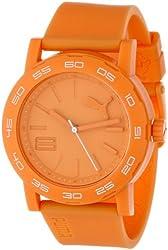 PUMA Women's PU103202003 Move Silicone Analog Watch, Orange