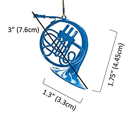 Amazon.com: Blue French Horn Ornament, Inspired By How I Met Your ...