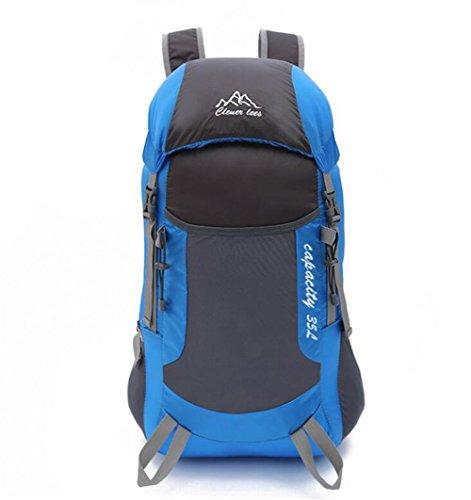 Wmshpeds Ultra ligero plegable paquete de viajes de ocio deportivo bolsa de hombro mochila de alpinismo al aire libre A