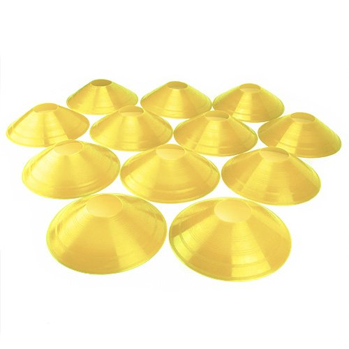 (Crown Sporting Goods Set of 12 Soft Plastic Field Disc Cones (Yellow))