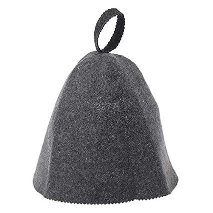 964e1a5b4 Amazon.com: Bath Hat - Wool Felt Sauna Hat Anti Heat Cap Head ...