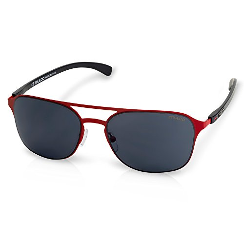 Mulco Illusion HM C4 Red Frame / Black Lens 50 mm - Sunglasses Hm