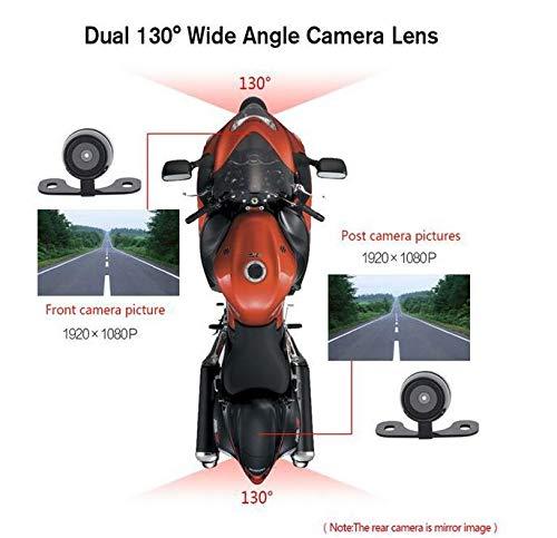 HaoYiShang Cam/éra Avant enregistreur HD 130 /° Moto DVR /à Double Objectif cam/éra de recul