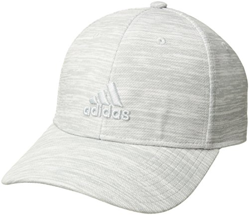 adidas Men's Rucker Stretch Fit Cap, White React Print/Clear Grey, Small/Medium