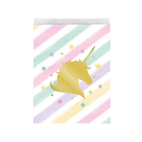 Sparkle Unicorn Treat Bags, 10 ct]()