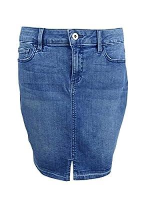 Tommy Hilfiger Womens Released-Hem Casual Denim Skirt