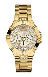 GUESS Women's U13576L1 Dazzling Sporty Gold-Tone Watch