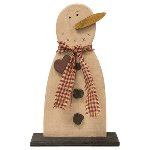 Country Crafts Frosty Wood Snowman (Pack of 2) G33881 ()