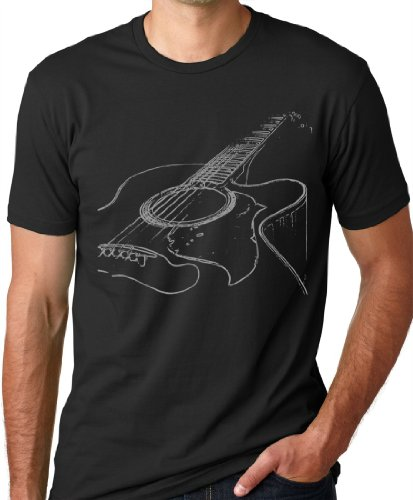 Top Acoustic Guitar T-shirt Cool Musician Tee