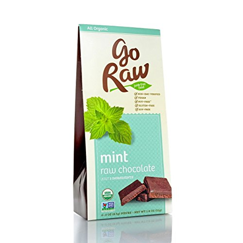 GoRaw Real Live Chocolate Truffles, Mint, 1.8 oz For Sale