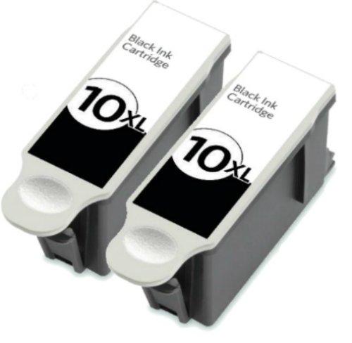 HouseOfToners Compatible Ink Cartridge Replacements for Kodak #10XL (2 Black, 2-Pack)
