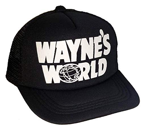 THATSRAD Toddler Kid's Wayne's World Halloween Mesh Trucker Hat Cap 3-7 Costume ()