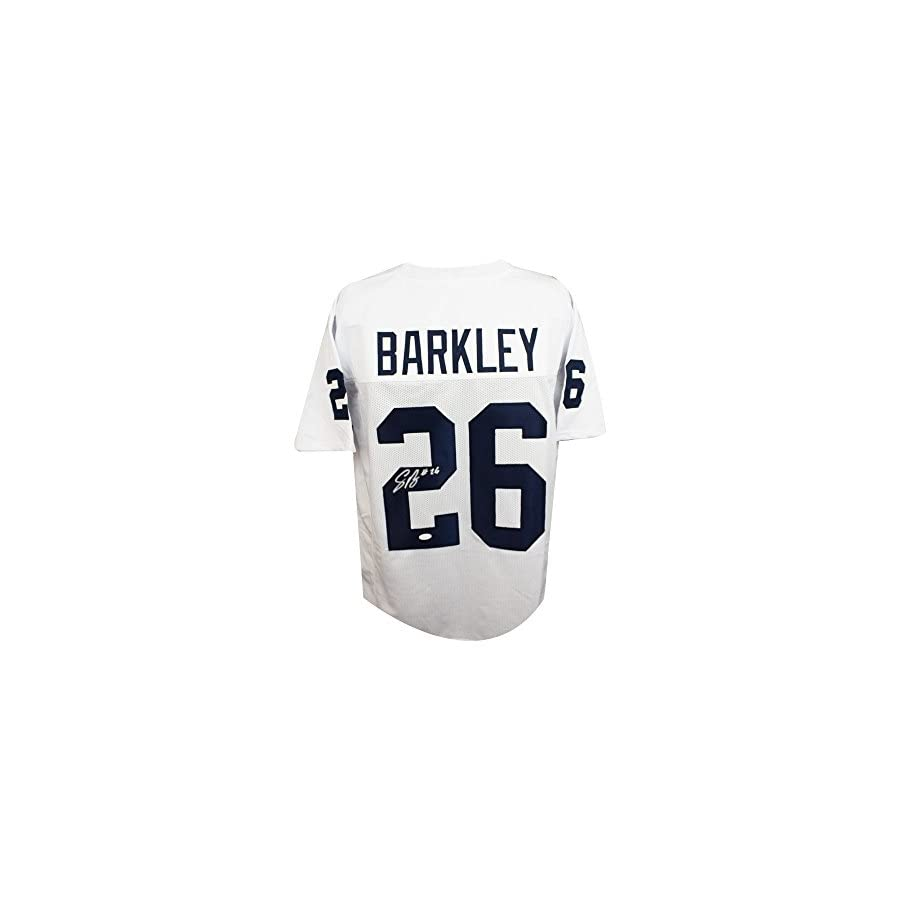 Saquon Barkley Autographed Penn State Custom White Football Jersey JSA COA