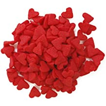 Dress My Cupcake DMC27257 Decorating Edible Cake and Cookie Confetti Sprinkles, Jumbo Red Hearts Valentines, 2.4-Ounce