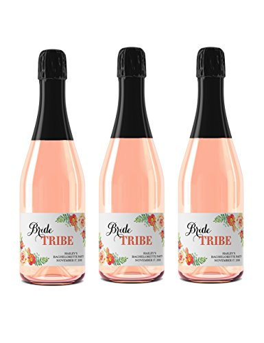 bride-tribe-set-of-8-custom-bachelorette-party-mini-champagne-labels-here-comes-the-bride-bridal-sho