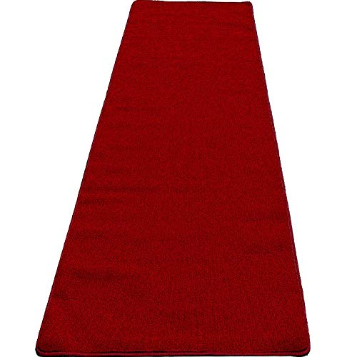 Mybecca High Class VIP Quality Persian RED Carpet Aisle Runner for Parties & Hollywood-Feel Events, 2 x 10 ft (1ft.8 x 10 ft) Wedding and Ceremony red Carpet Dark Red ()