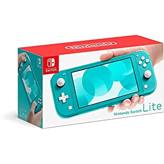 Newest Nintendo Switch Lite Game Console, Turquoise with 128GB AllyFlex Micro SD Card